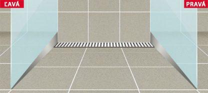 Alca Plast - nerezova lista pre spadovanie podlahy