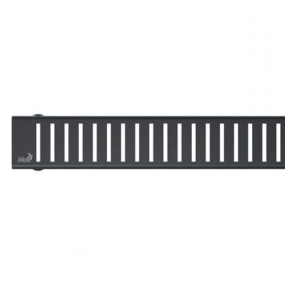Alca Plast - rost PURE BLACK pre liniovy podlahovy zlab