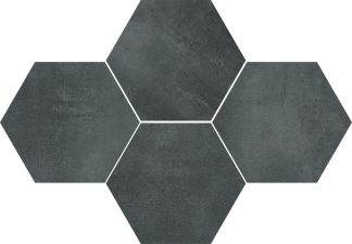 Ceramika Color - Stark Mosaic Hexagon Graphite