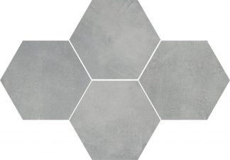 Ceramika Color - Stark Mosaic Hexagon Grey