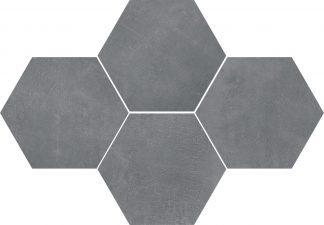 Ceramika Color - Stark Mosaic Hexagon Pure Grey