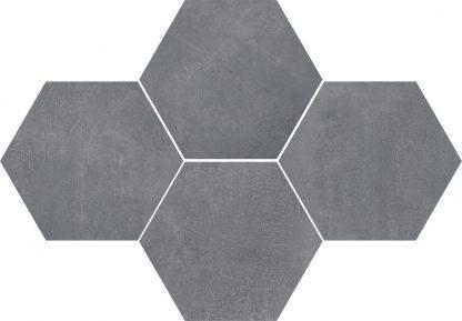 Ceramika Color - Stark Mosaic Hexagon Pure Grey