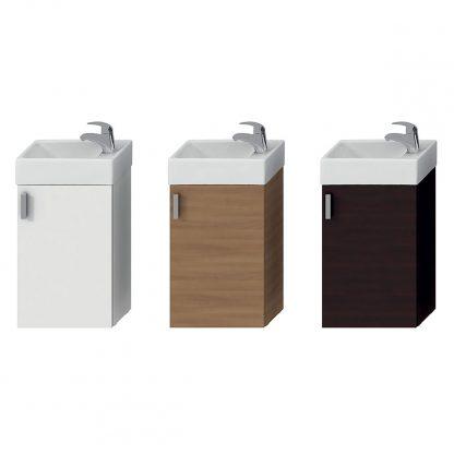 Jika Petit - skrinka s umývadielkom 400x235 mm - biela, tmavý dub, čerešňa