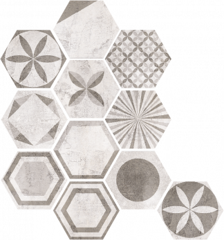 Keramika Modus - Pietra Hex MIX DECORS