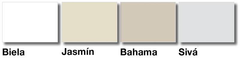 Lista rohova ukoncovacia - PVC obla - farby