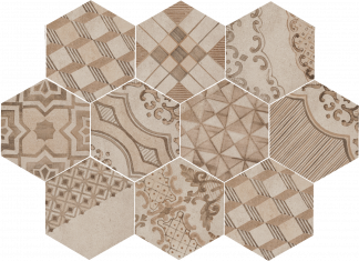 Marazzi Clays Hexagon - MM7Y EARTH-SAND-SHELL