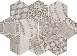 Marazzi Clays Hexagon - MM7Z COTTON LAVA
