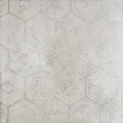Porcelaingres De Tiles - Soft Concrete - HEXAGON SILVER