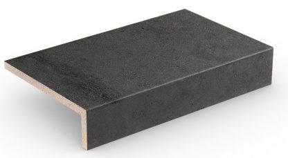 Stroher - glazované dlažby schody balkóny terasy - Keraplatte Gravel Blend 4815/963 BLACK