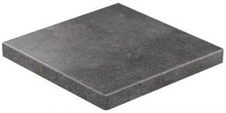 Stroher - glazované dlažby schody balkóny terasy - Keraplatte Gravel Blend 9441/963 BLACK