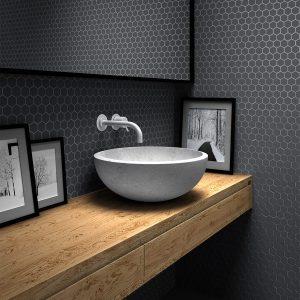 Kúpeľne - sklenená mozaika Vidrepur - Nordic Hex