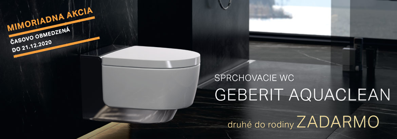 Akcia - Sprchovacie WC Geberit Aquaclean - druhé do rodiny ZADARMO