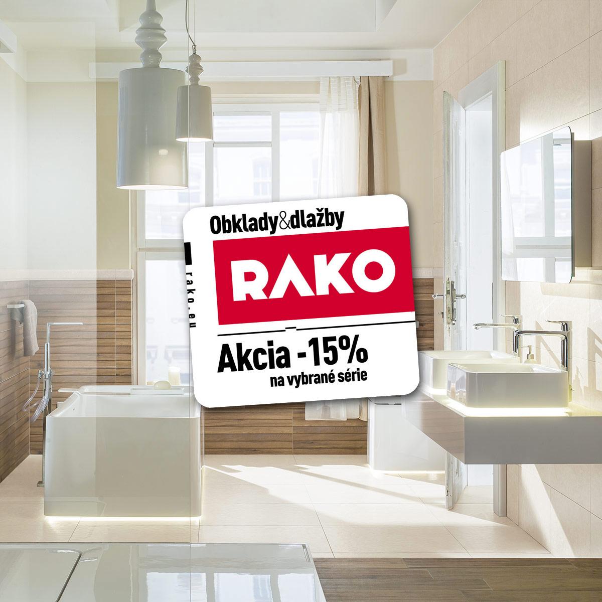 Vybrané série Rako - zľava 15%